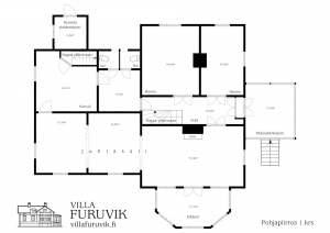 Villa Furuvik huvila juhlatilat pohjapiirros alakerran juhlasalit